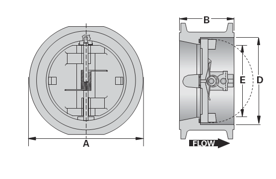 Wafer Dual Plate Check Valves
